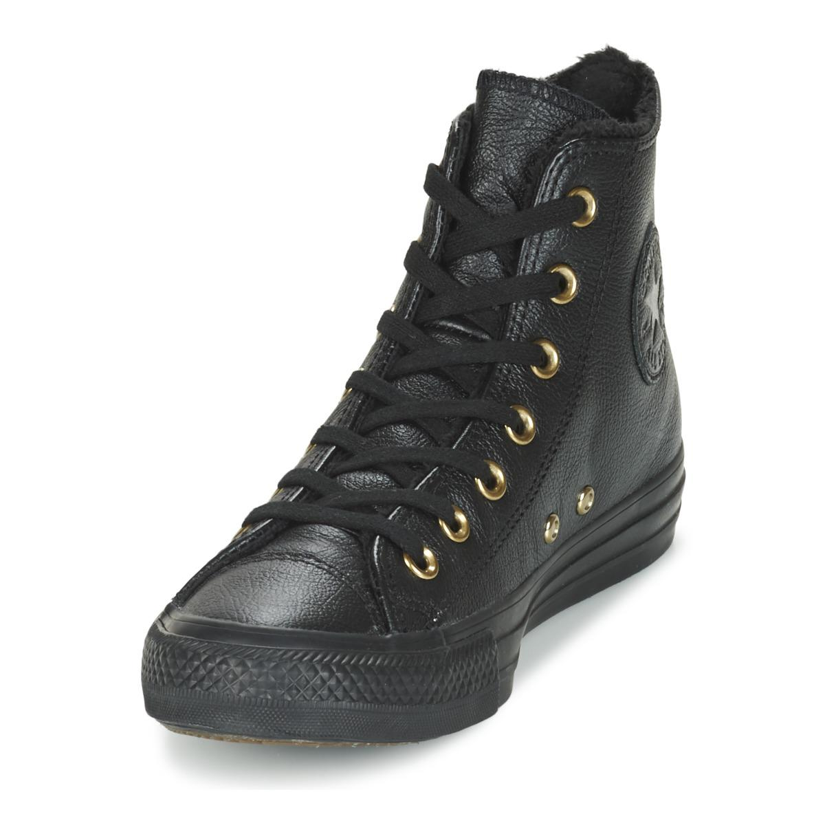 Converse Chuck Taylor All Star High-top Leather Sneakers in Black