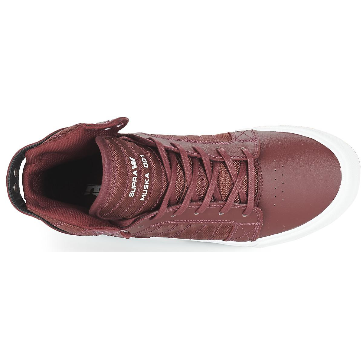 Supra Leather Skytop Shoes (high-top Trainers) in Red