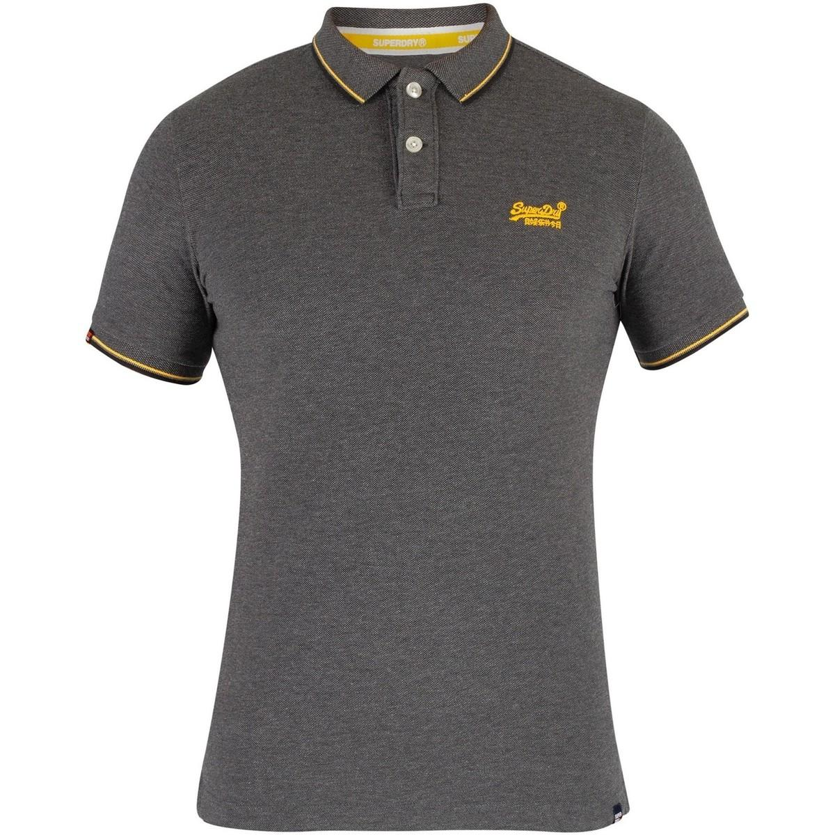6579818bcb87 ... Classic Poolside Pique Poloshirt, Grey Men's Polo Shirt In Grey for.  View fullscreen
