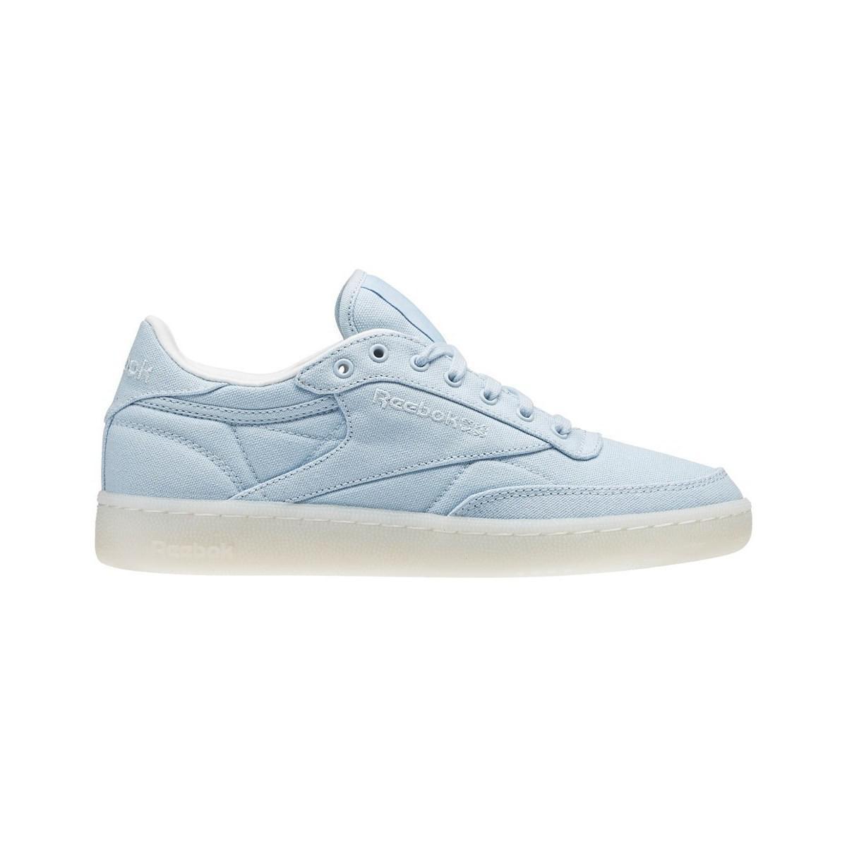 Reebok. Club C 85 Canvas Zee Blue Women s Shoes (trainers) In Multicolour 2b8284e27