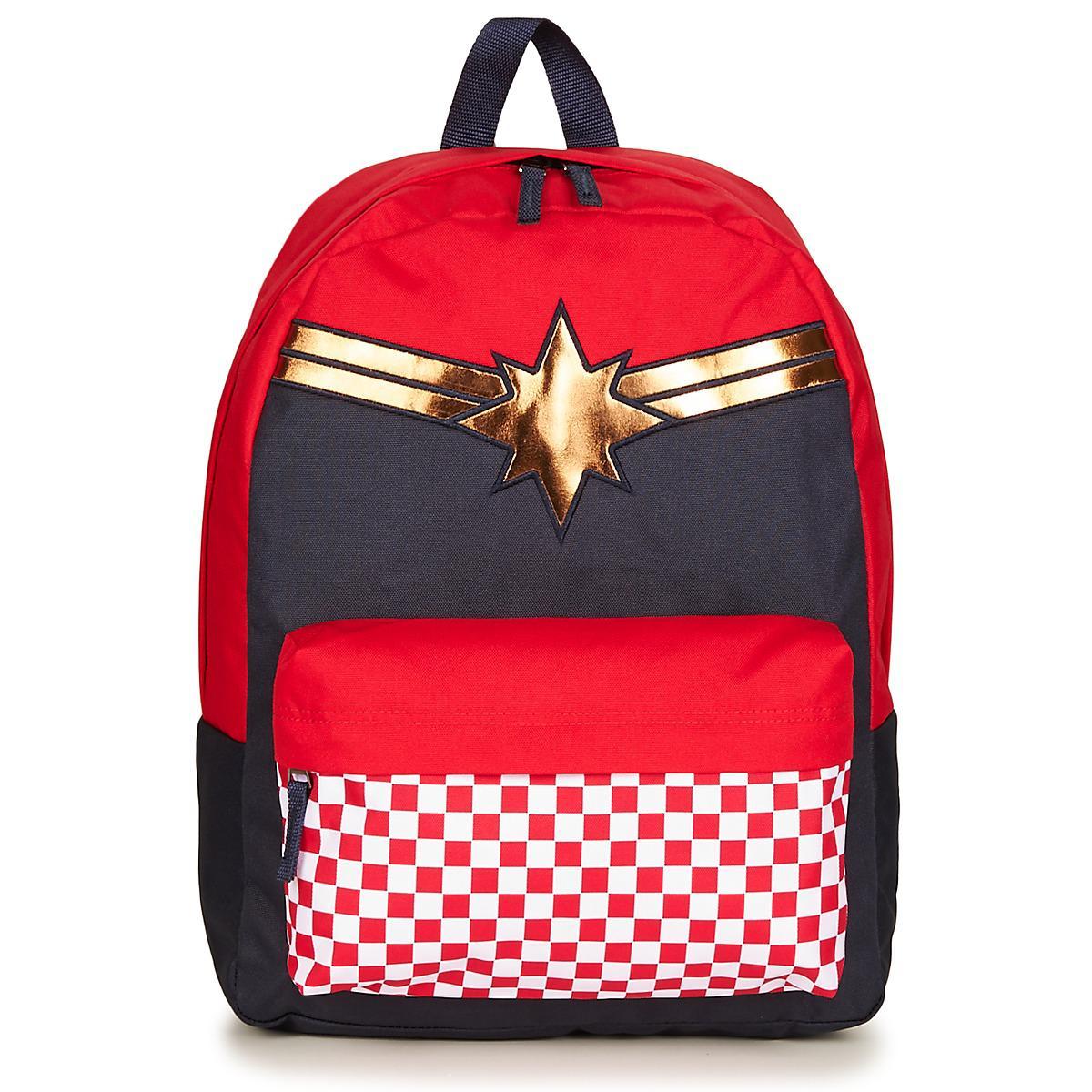 Vans Captain Marvel Realm Backpack Women's Backpack In Red for men