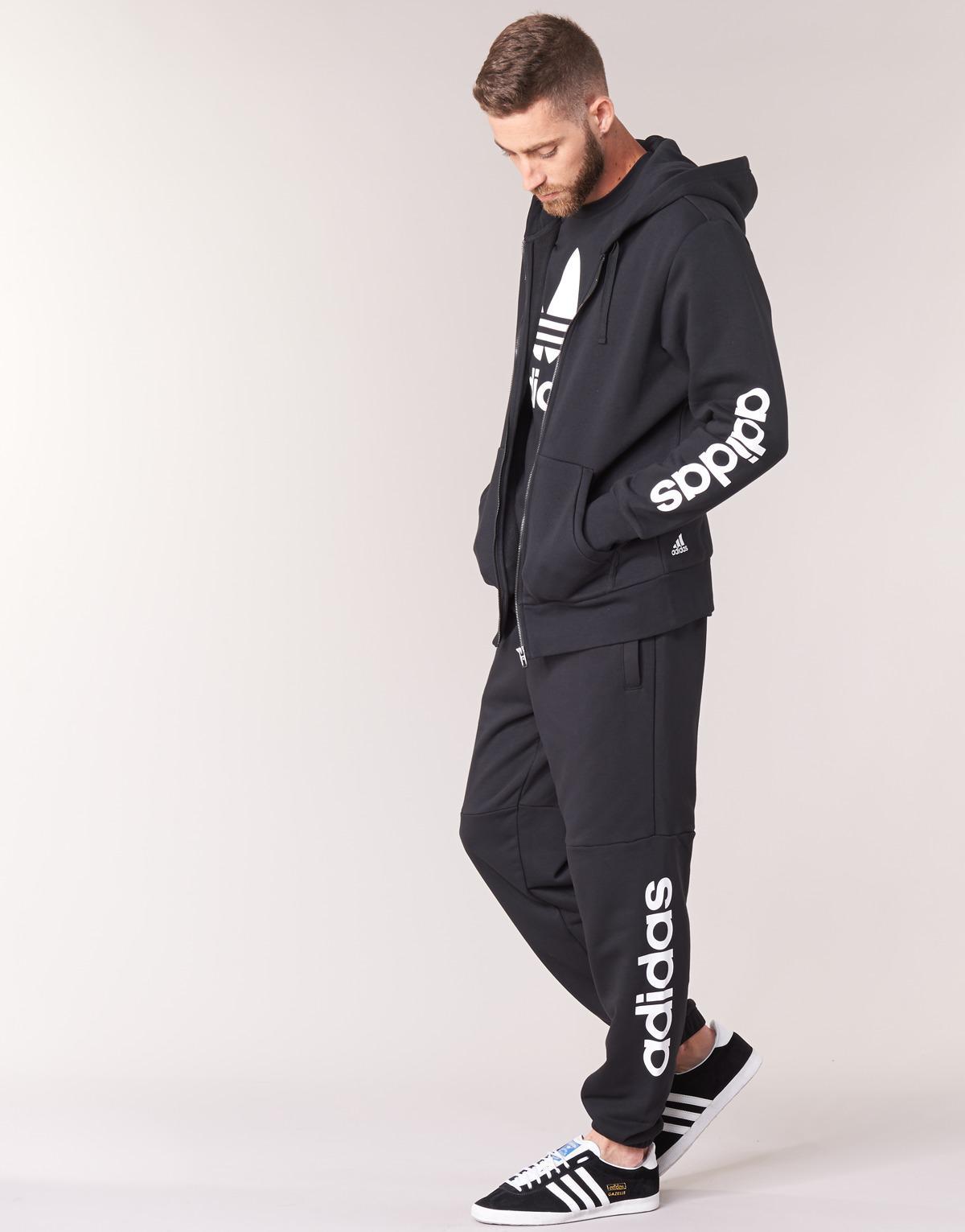 Men's Black Ess Lin Fzhoodb Sweatshirt