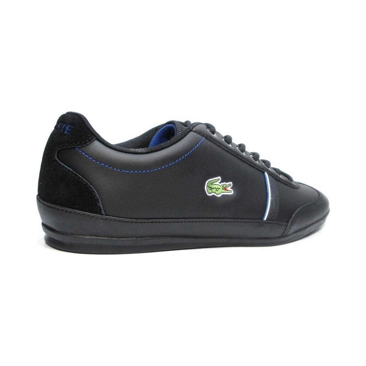 Lacoste Sneakers Misano 318 1 CAM Casual Fashion Shoes Leather Lace Up Black