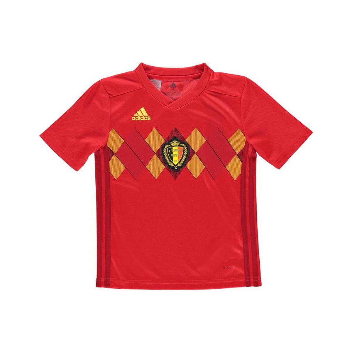 788a7c11427 Adidas - 2018-2019 Belgium Home Football Shirt (kids) Women s T Shirt In.  View fullscreen