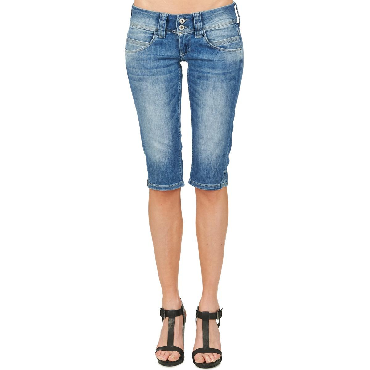 Pantalon VENUS CROP Jean Pepe Jeans en coloris Bleu