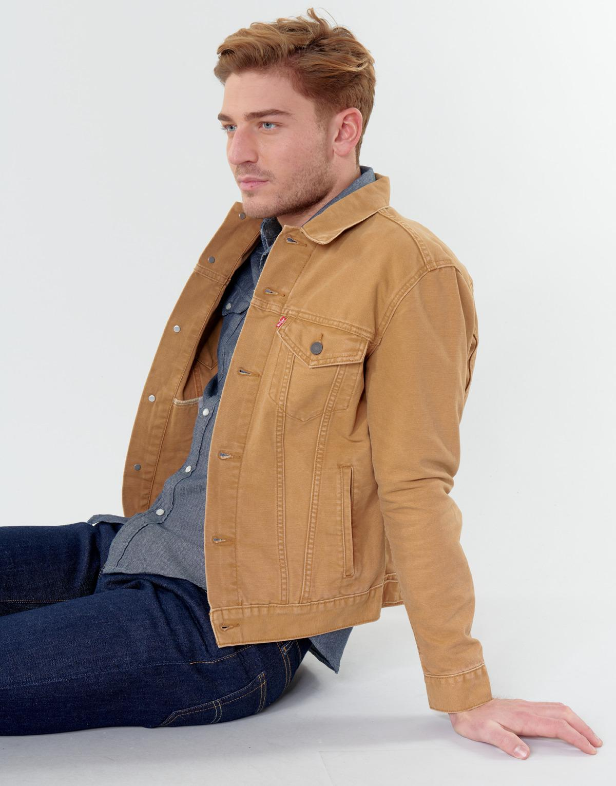 Levi's Denim Spijkerjack Levis The Trucker Jacket in het Naturel voor heren