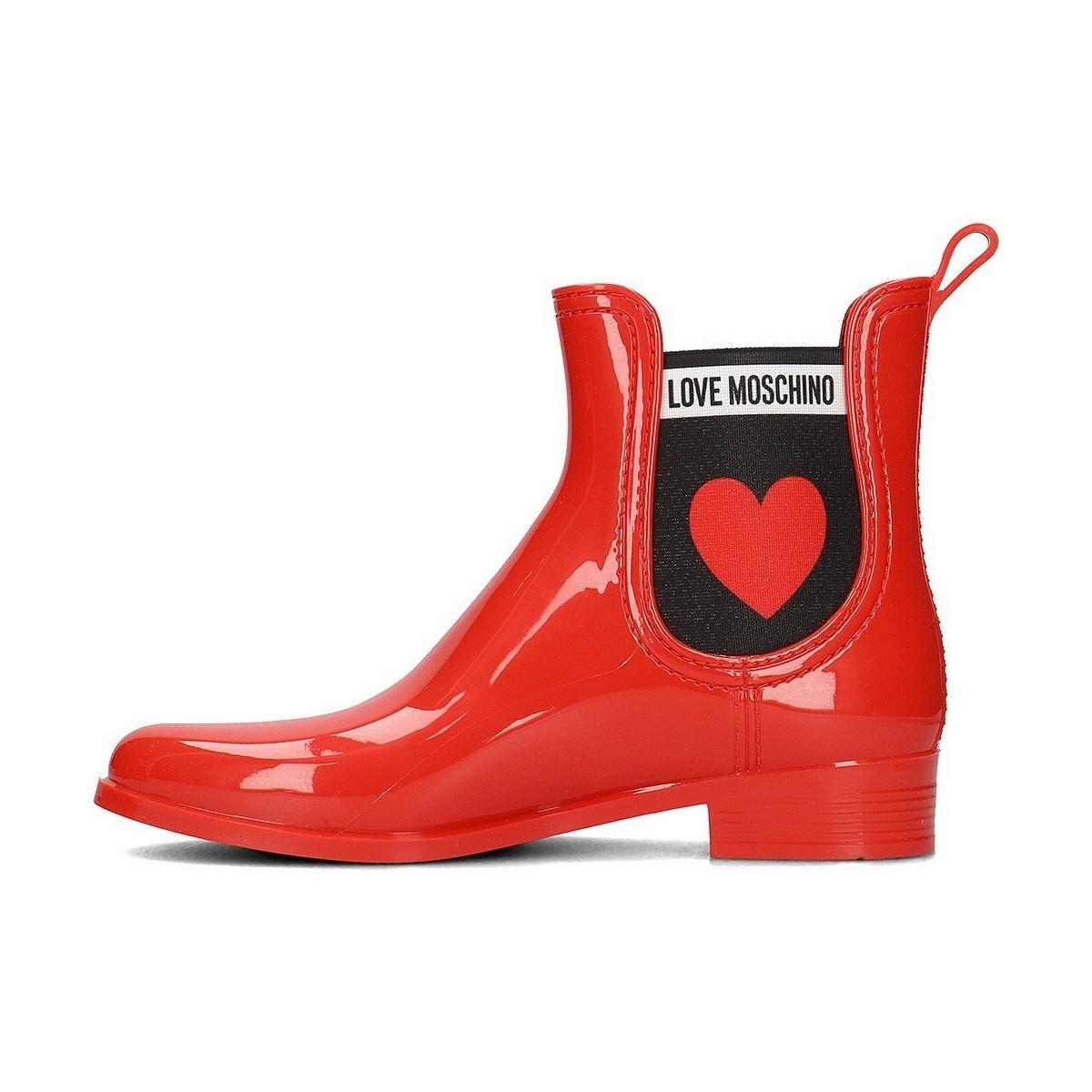Love Moschino Ja21013g16ij0500 Women's Wellington Boots In Red