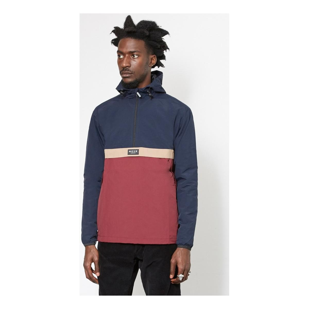 Nicce London Synthetic Windbreaker Jacket Blue & Purple for Men
