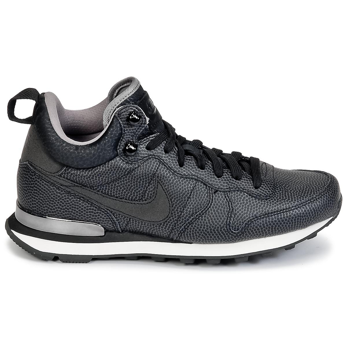 Nike Internationalist Mid Leather W Women's Shoes (high-top Trainers) In Black