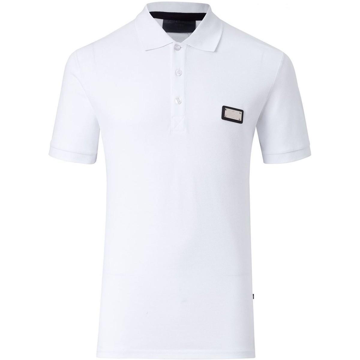 Philipp Plein - Men's Polo Teddy Bear (hm352831) Men's Polo Shirt In White for Men