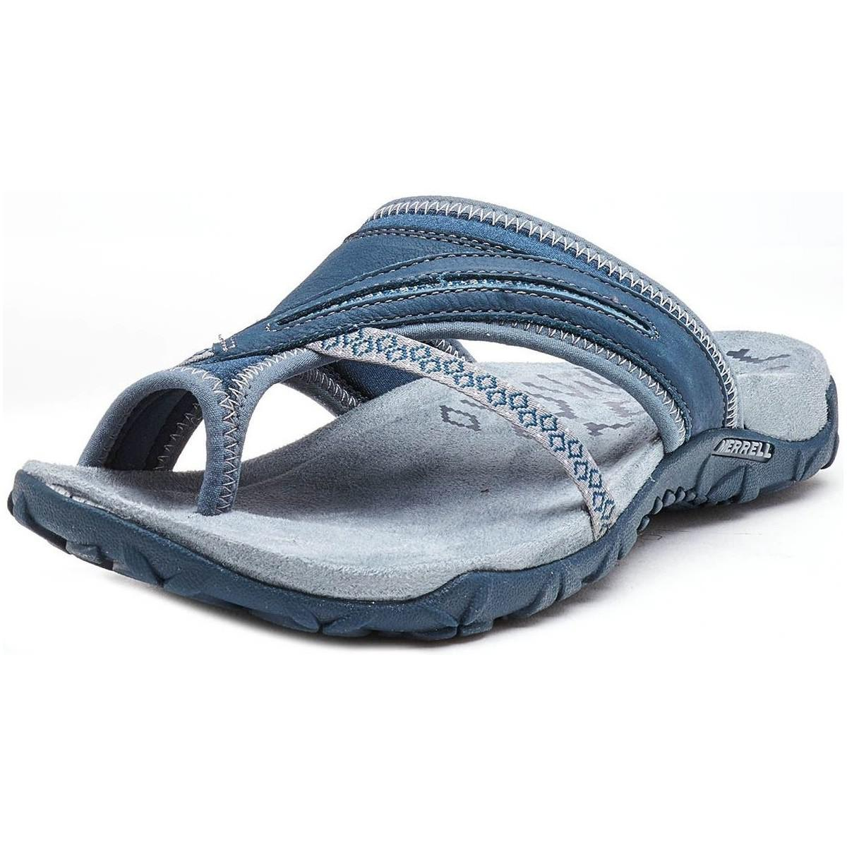 281ebc024 Merrell - Terran Post Ii Women Sandals In Slate Blue J98750 Women s Sandals  In Blue -. View fullscreen