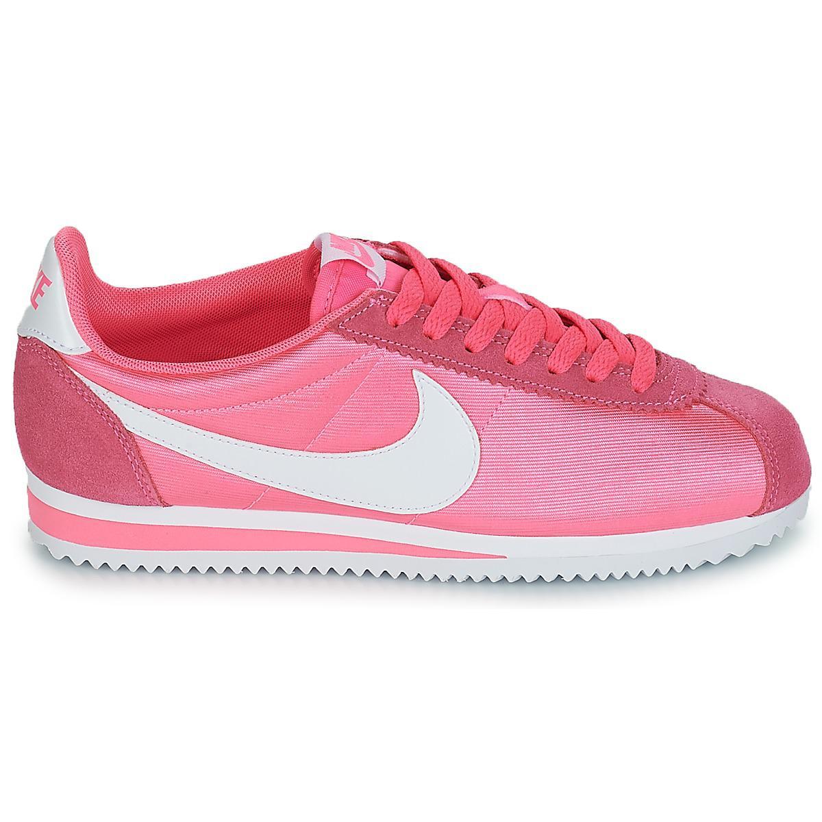 c723f07c2ec2f7 Nike - Classic Cortez Nylon W Women s Shoes (trainers) In Pink - Lyst. View  fullscreen