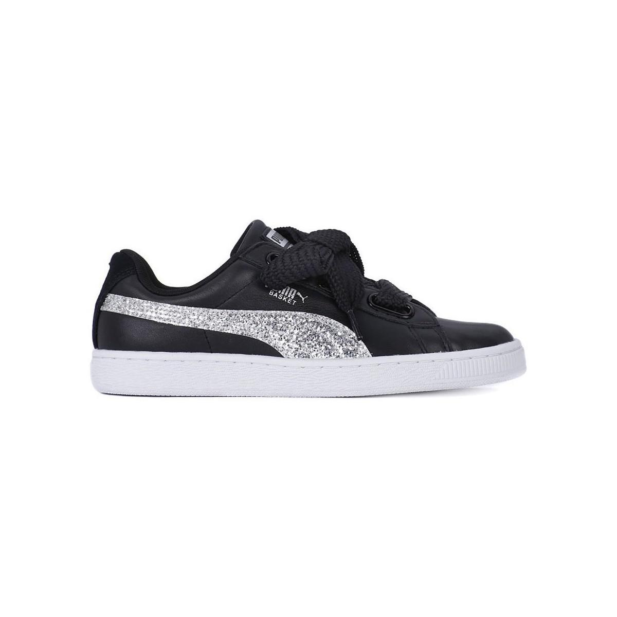 Genuine Cheap Sale Perfect Puma Basket Heart Glitter women's Shoes (Trainers) in Cheap Affordable nf9N78