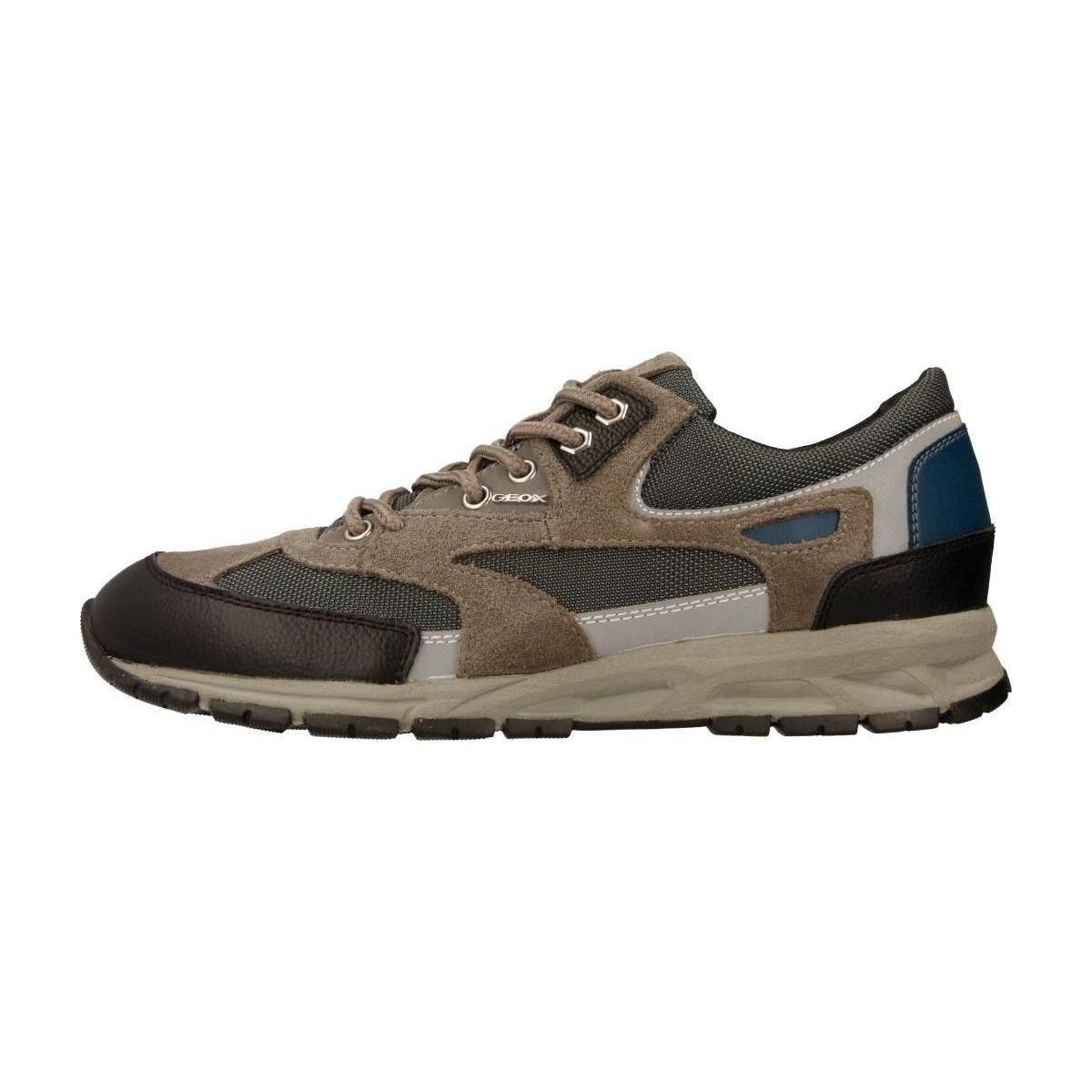 Geox U Delray Men's Shoes (trainers) In Grey in Grey for Men