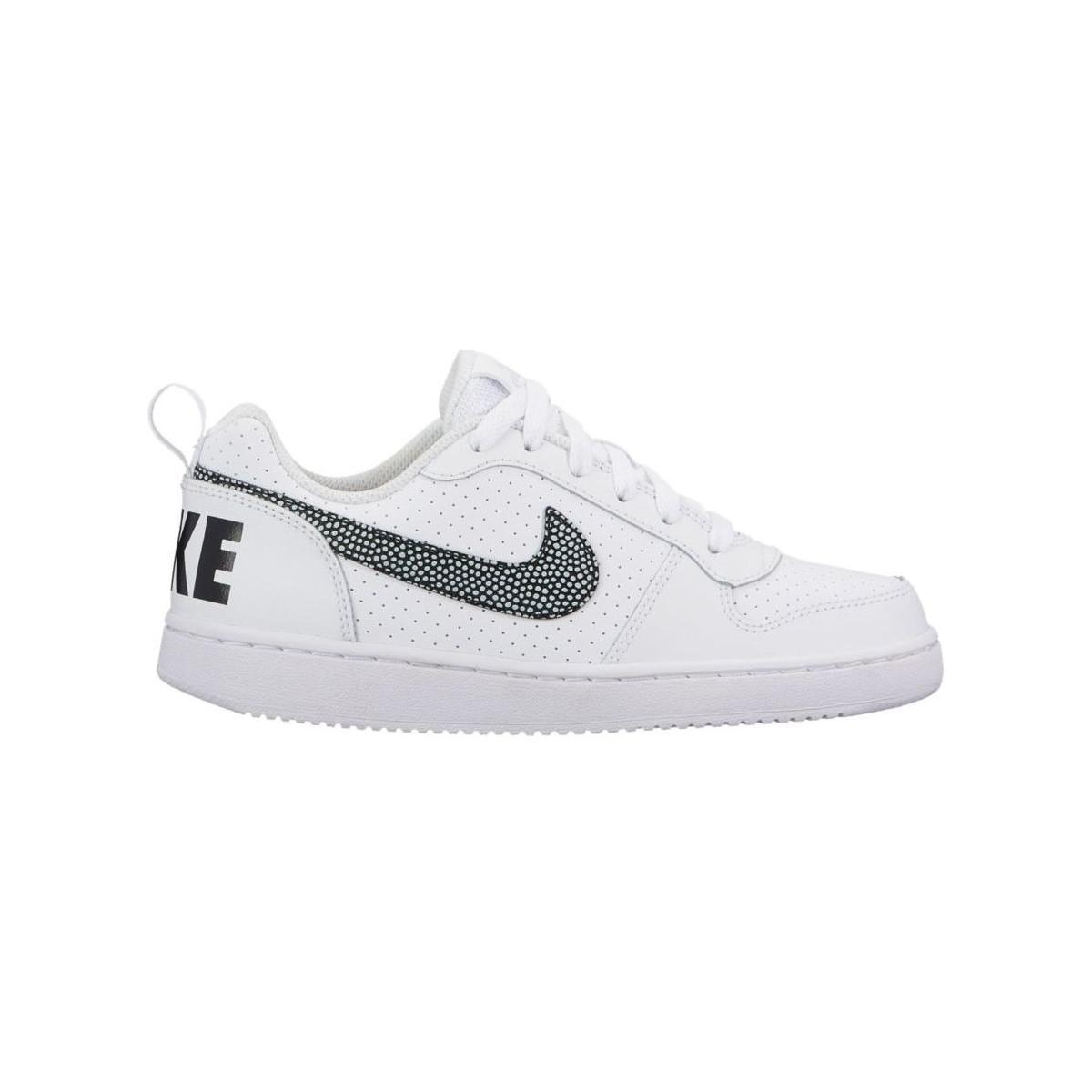 Nike Boys' Court Borough Low (gs) Shoe 839985 103 Women's Shoes (trainers) In White