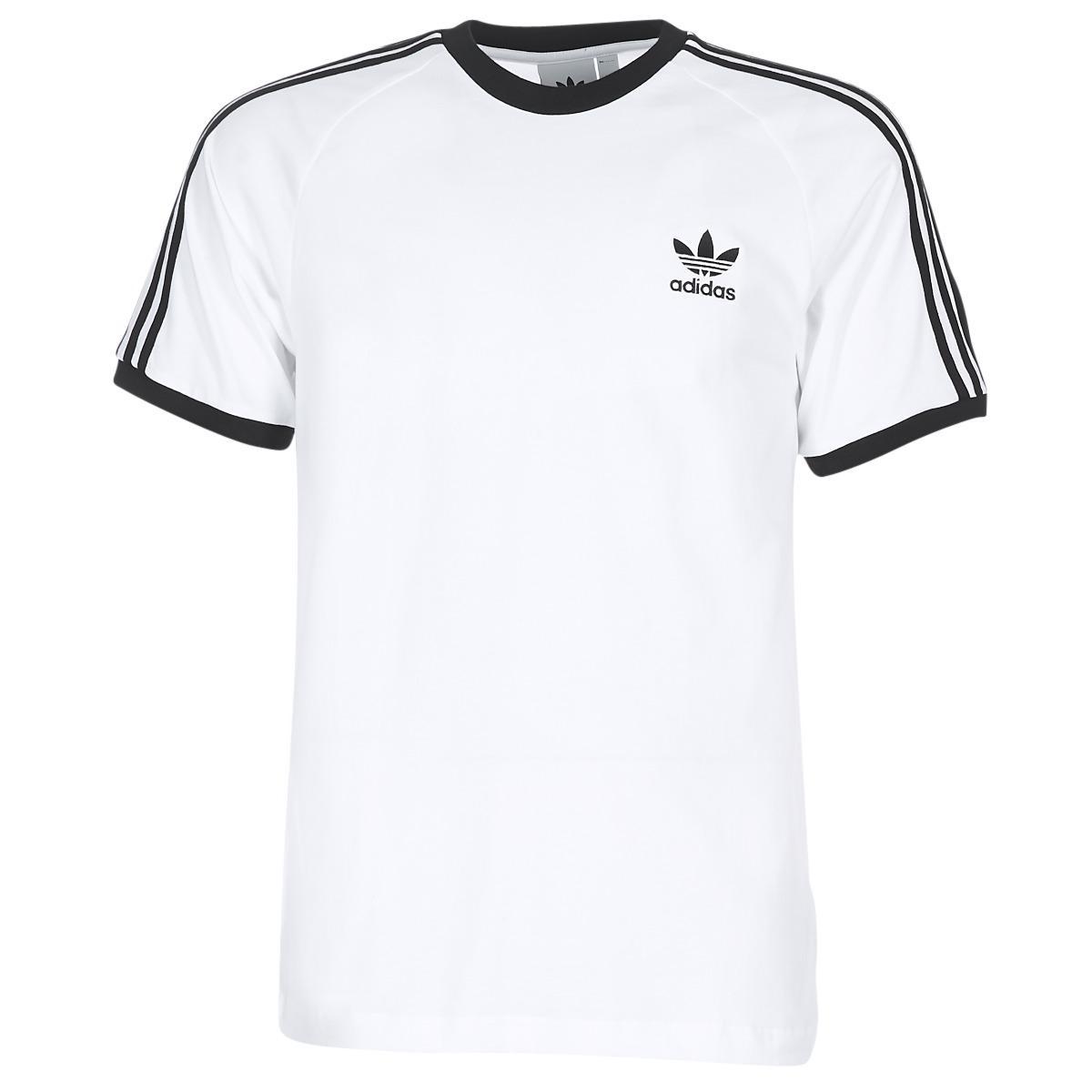 5cf17a84 Adidas Originals Retro 3 Stripes T-shirt White,california .