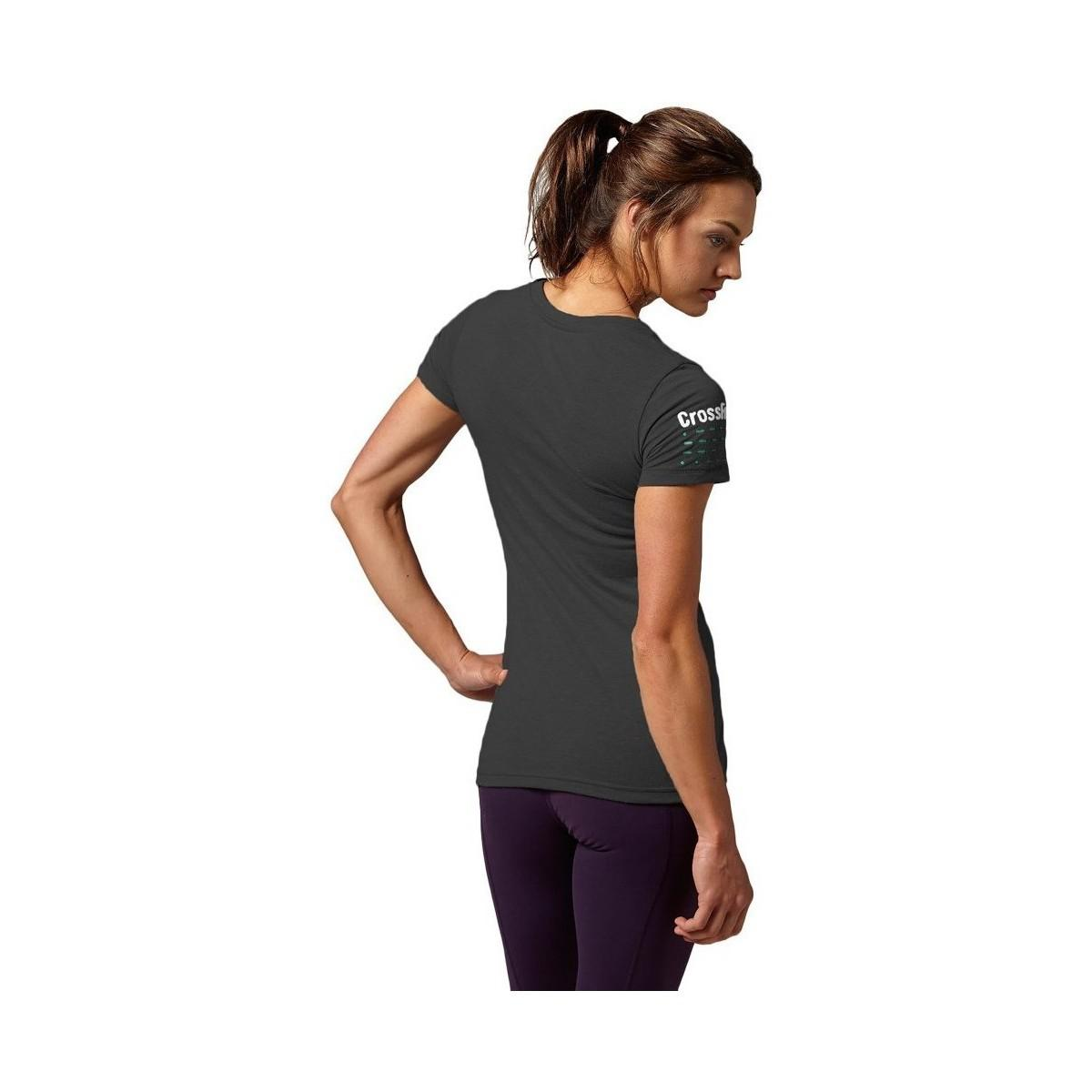 Reebok Black Crossfit Charlie Foxtrot Women's T Shirt In Multicolour