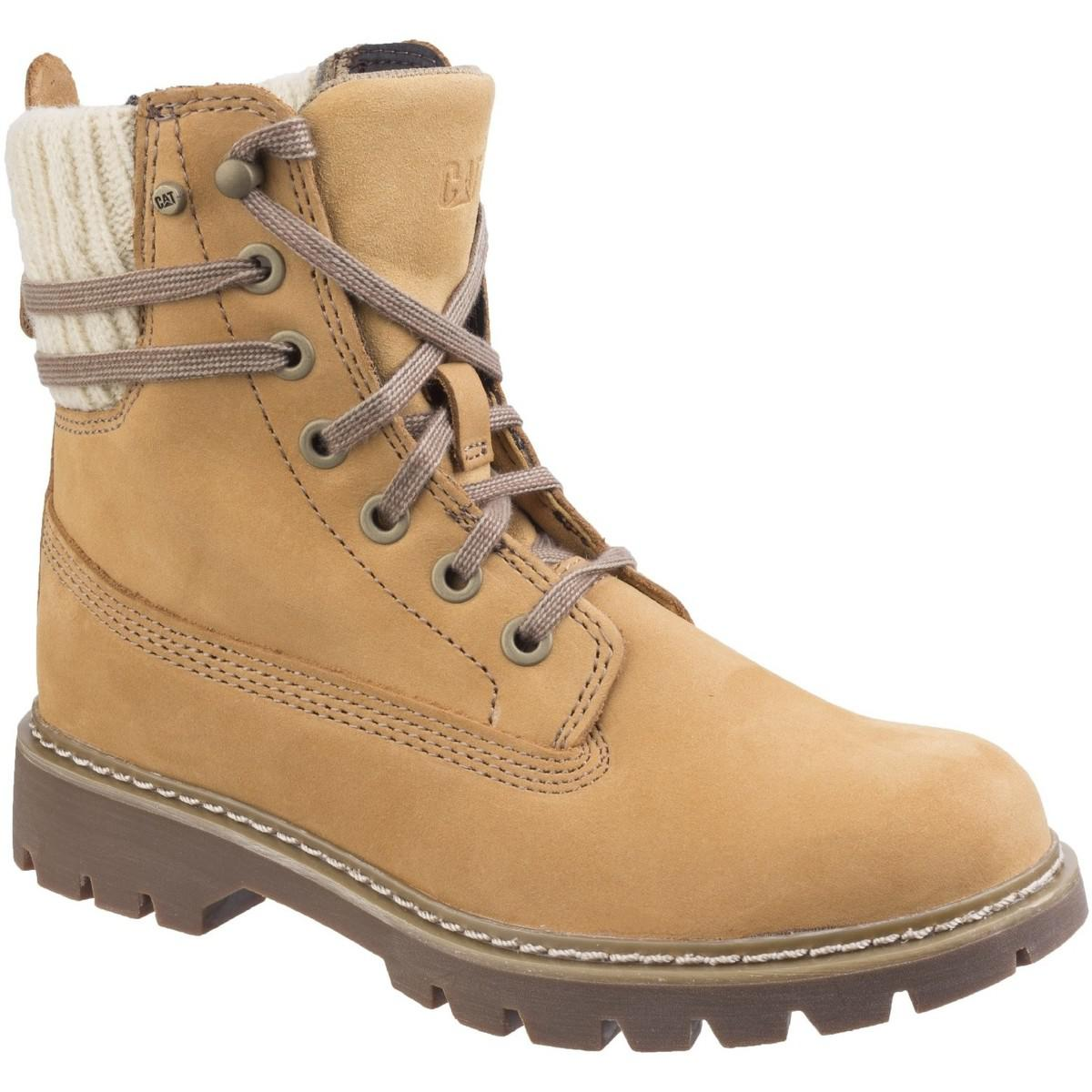 Caterpillar Leather Brazy Womens Boots in Brown