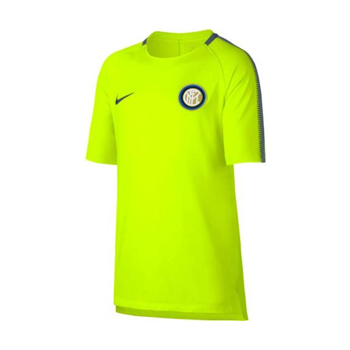 huge selection of aeb1a d8ee3 2017-2018 Inter Milan Training Shirt (volt) - Kids Men's T Shirt In Yellow