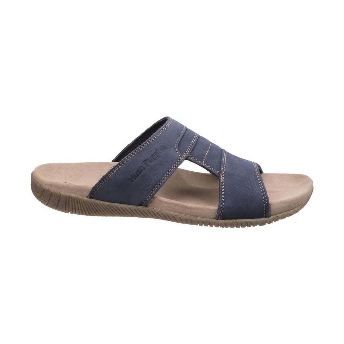 cc060cd0be7 Hush Puppies - Mutt Slider Mens Sandals Men s Sandals In Blue for Men -  Lyst. View fullscreen