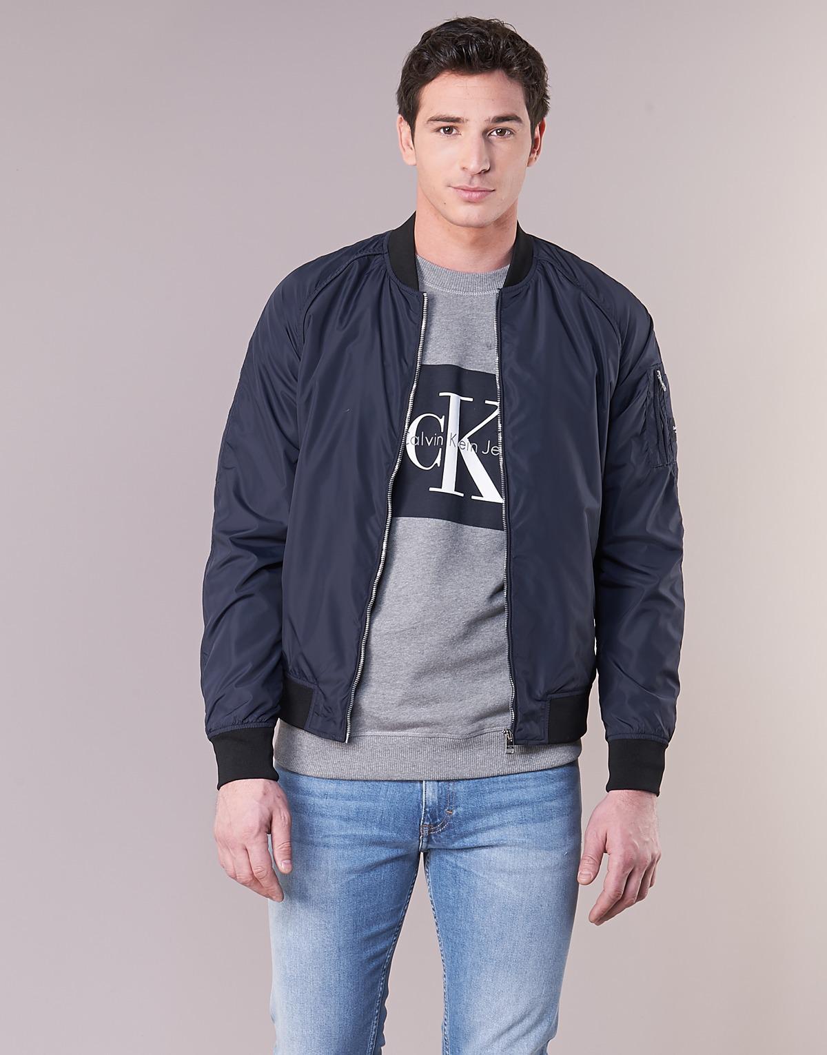 800a9c4a1 Calvin Klein Omri Bomber Jacket Men's Jacket In Blue for men