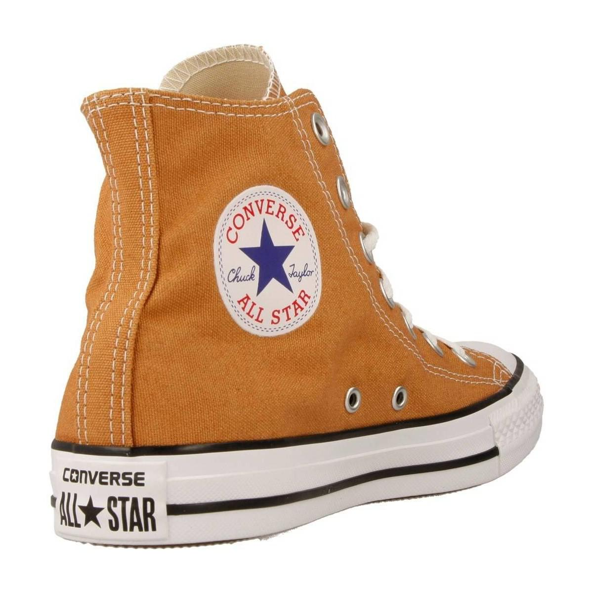 Converse Ctas Hi Raw Sugar Women's Shoes (high-top Trainers) In Brown