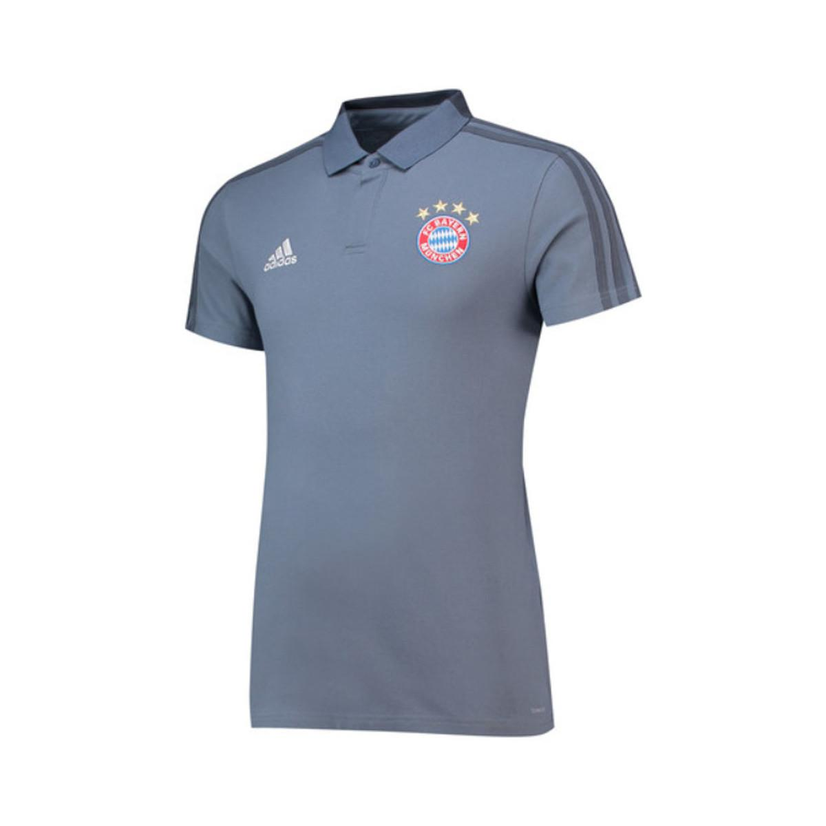 004b1a95d9e5d Adidas Gray 2018-2019 Bayern Munich Ucl Training Polo Shirt Men's Polo  Shirt In Grey for men