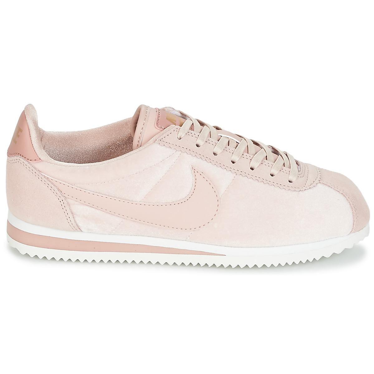 Nike Classic Cortez Suede W Women's Shoes (trainers) In Pink