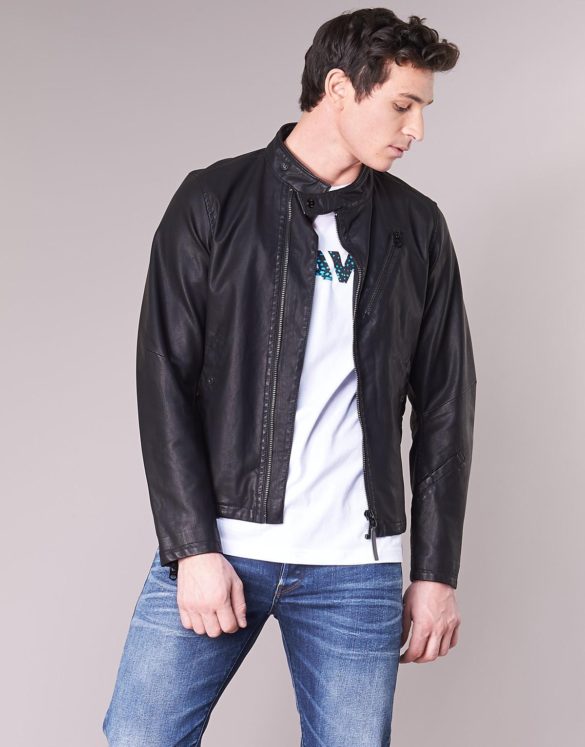 half price get cheap new york G-Star RAW Empral 3d Gpl Biker Jkt Leather Jacket in Black for Men ...