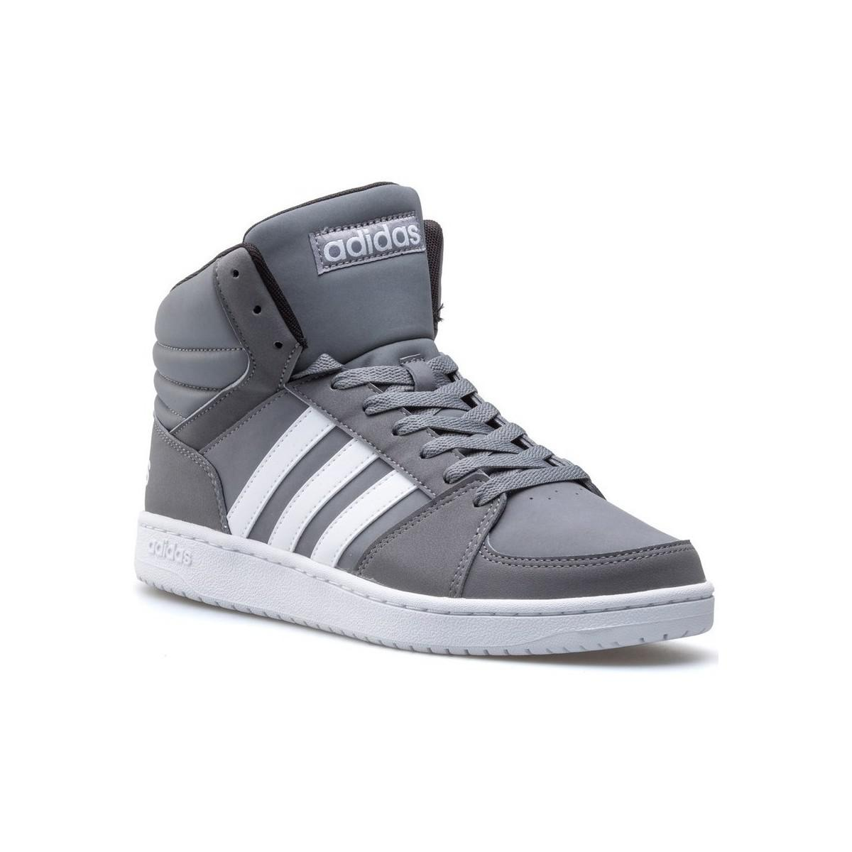 1b707cea Adidas Gray Vs Hoops Mid Men's Shoes (high-top Trainers) In Grey for men