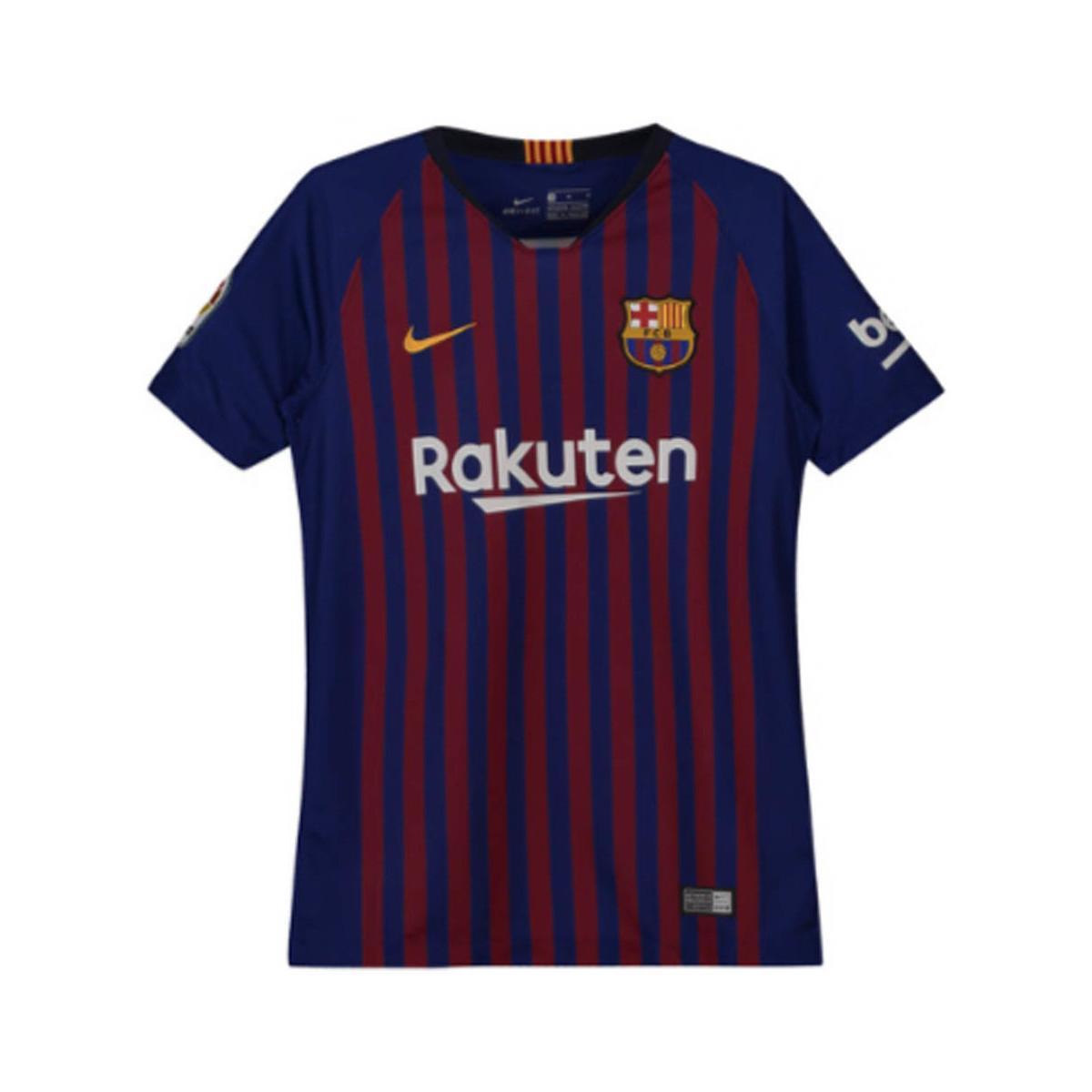 sports shoes e3414 31db0 Nike 2018-2019 Barcelona Home Football Shirt Women's T Shirt ...