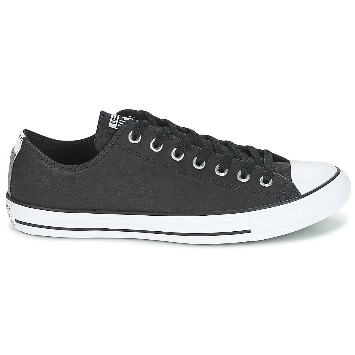0c7d6497ab4 Converse - Black Chuck Taylor All Star Ox Fashion Leather Shoes (trainers)  for Men. View fullscreen