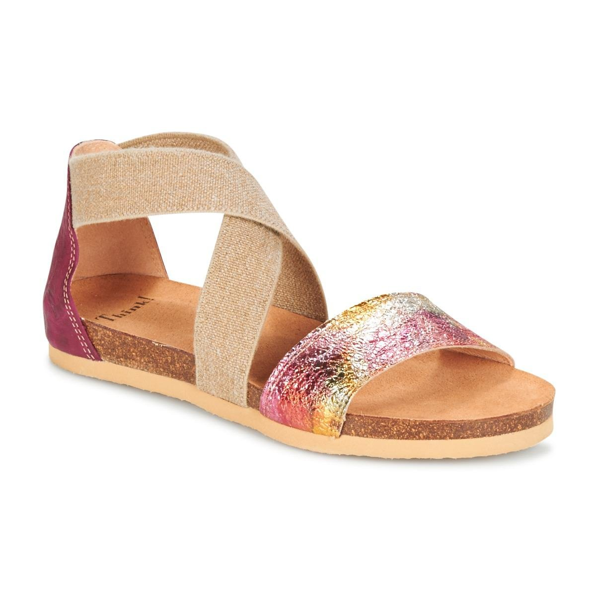 Discount Think Traduk Pink Sandals for Women On Sale