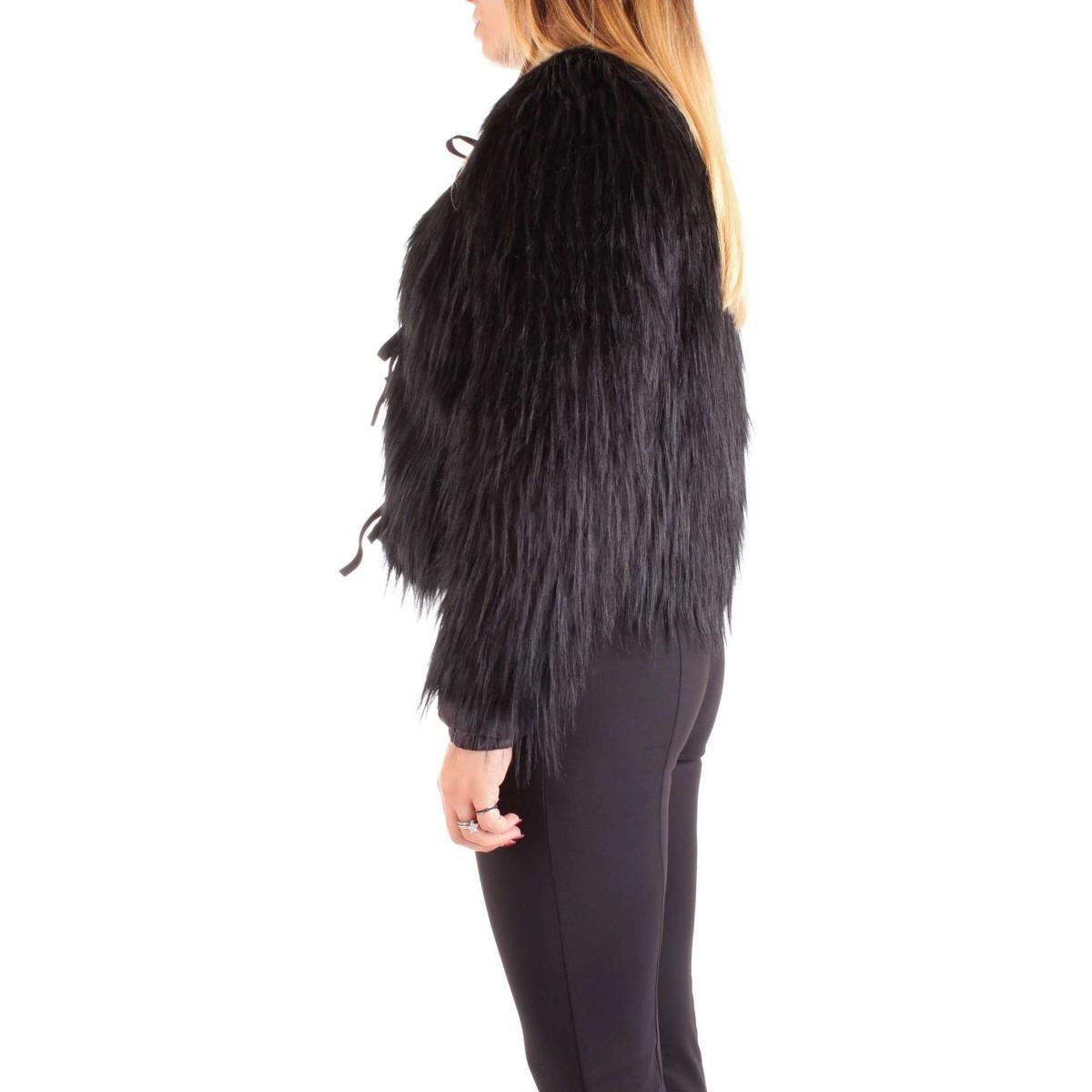 2L0804/A4G9 Fourrure femme NOIR femmes Manteau en Noir Patrizia Pepe en coloris Noir x9Il3