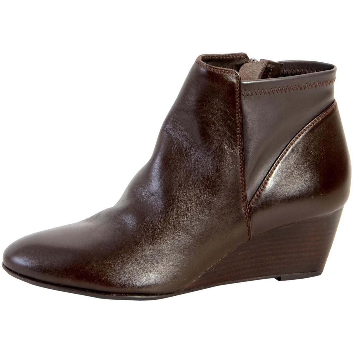 lyst geox bottine d venere has d64p8a 085kb c6009 coffee women 39 s low ankle boots in brown in brown. Black Bedroom Furniture Sets. Home Design Ideas