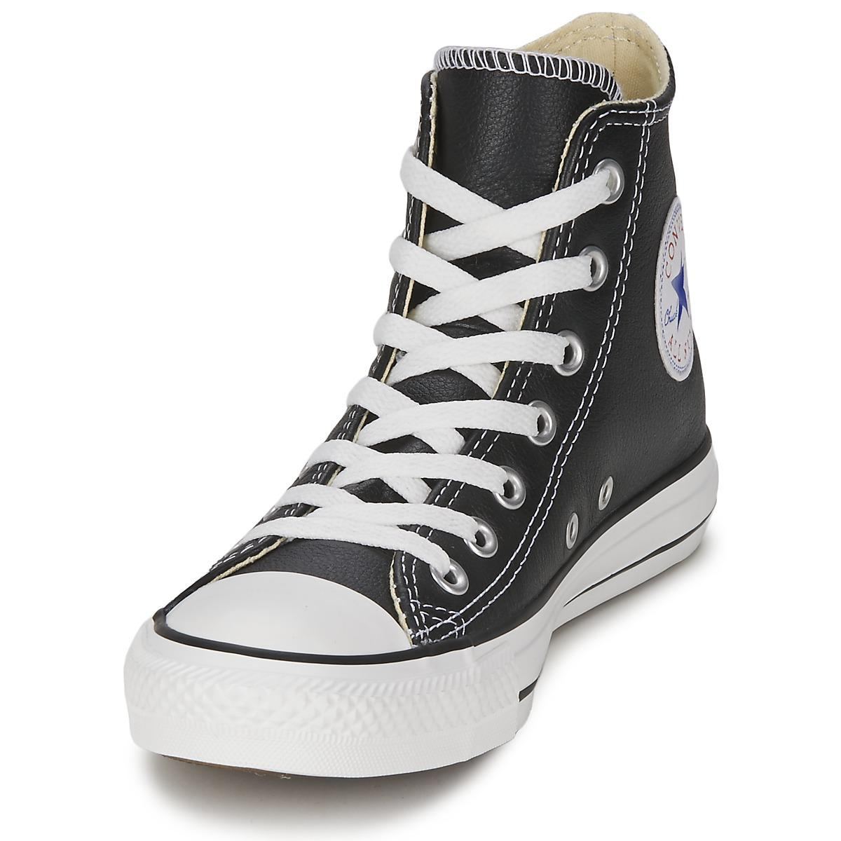 Converse All Star Core Leather Hi Men's Shoes (high-top Trainers) In Black for Men - Save 67%