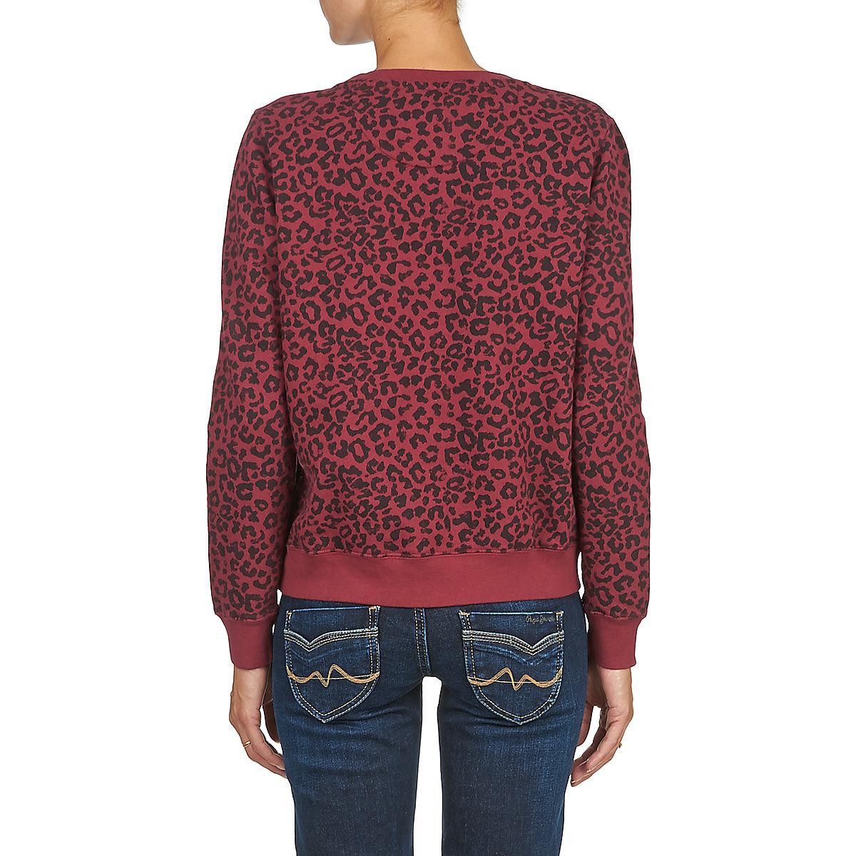 Pepe Jeans Denim Irene Women's Sweatshirt In Red