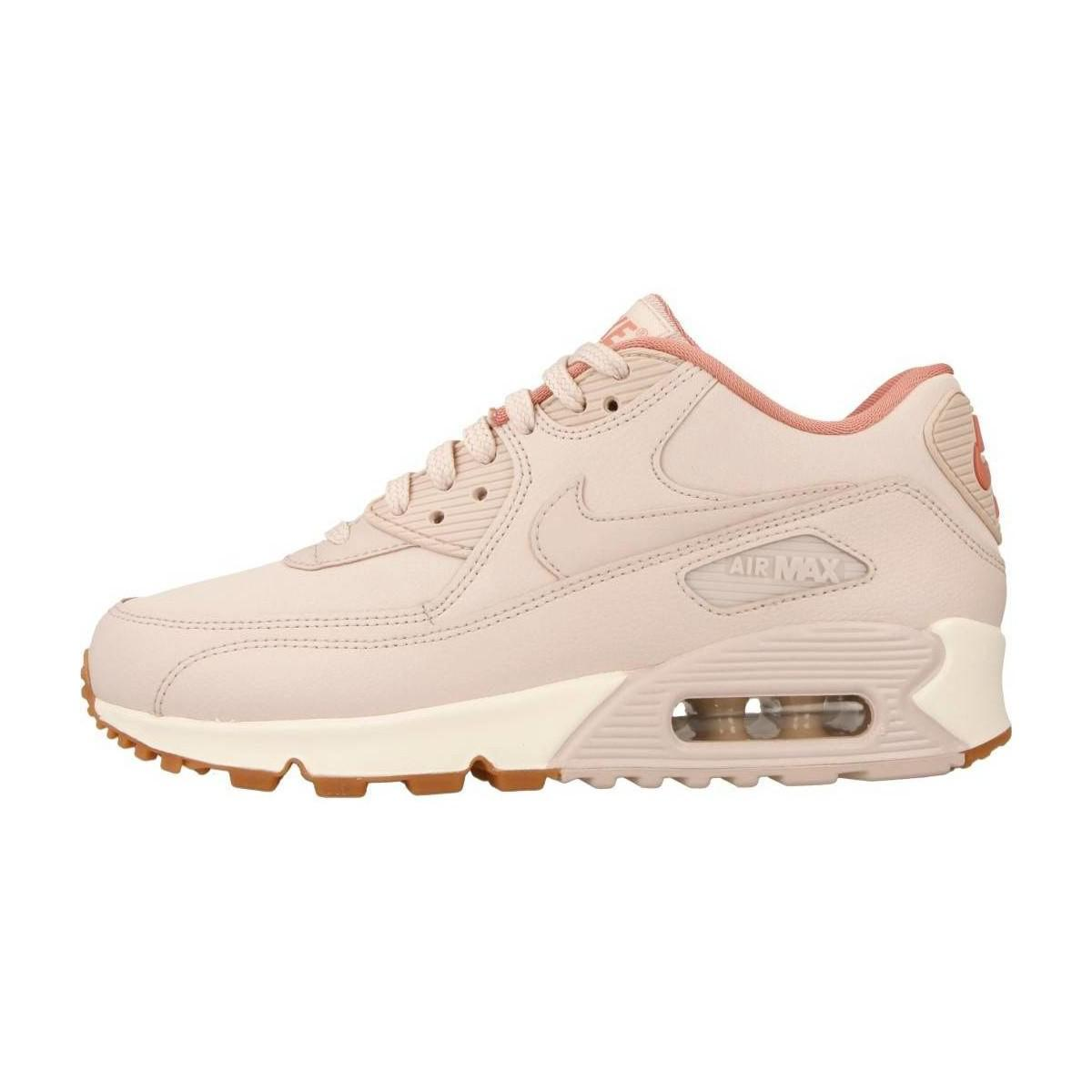 Nike Air Max 90 Lea Women's Shoes (trainers) In Pink in Pink