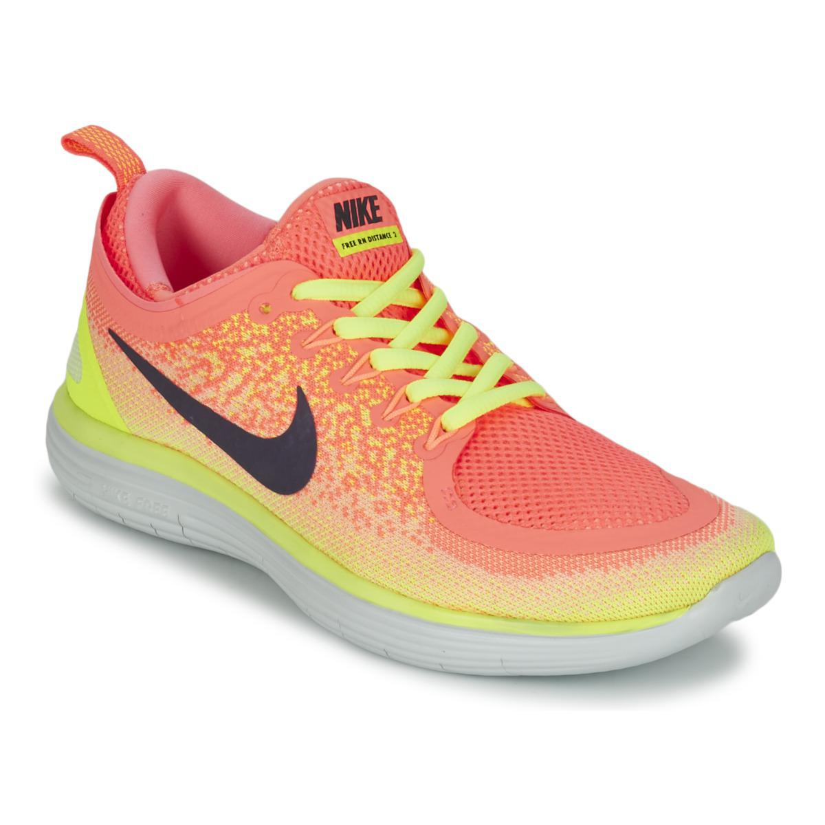 Nike Free Run Distance 2 Women's Running Trainers In Orange