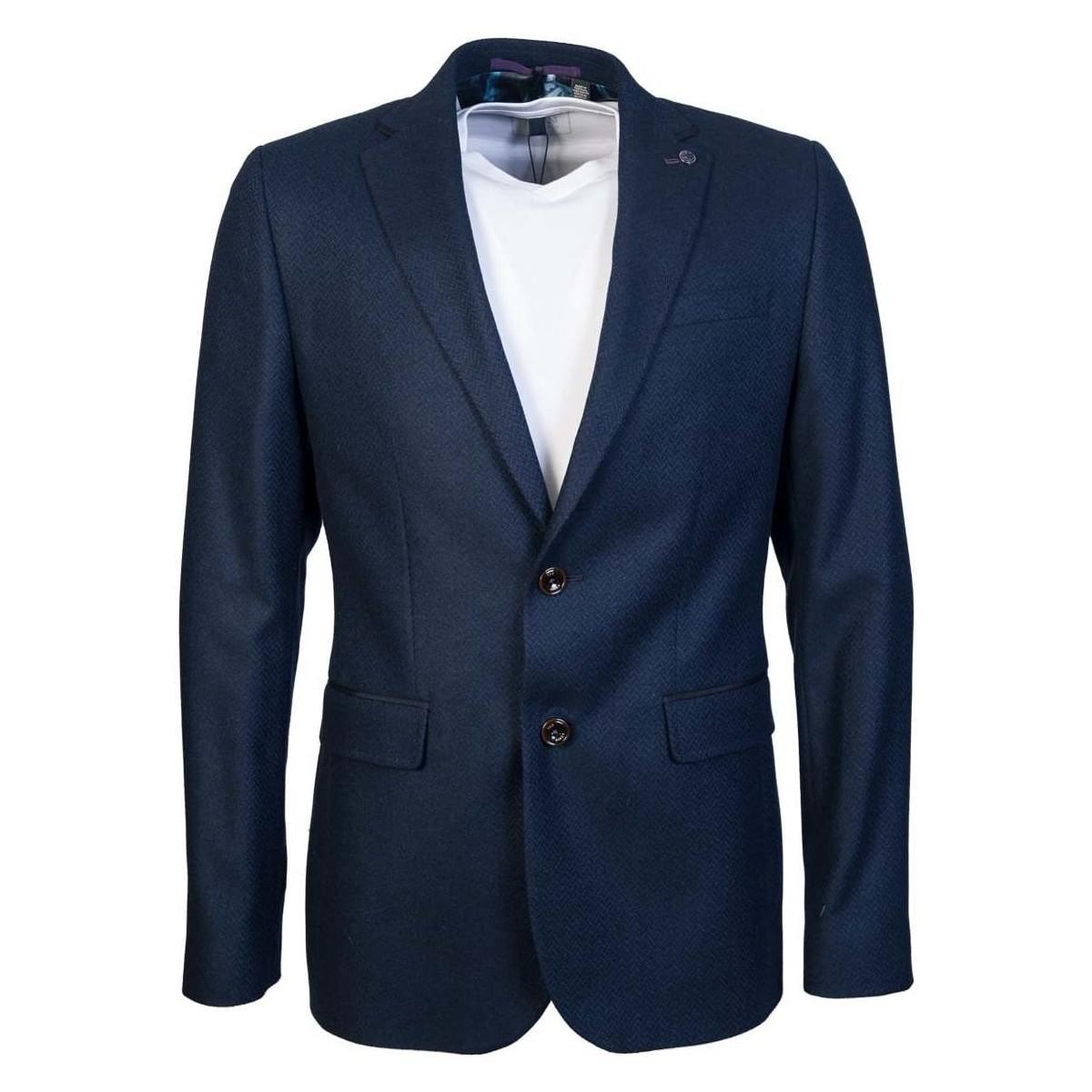 Ted Baker Blazer Jacket Ta7m Gj29 Glen Men's In Blue for Men
