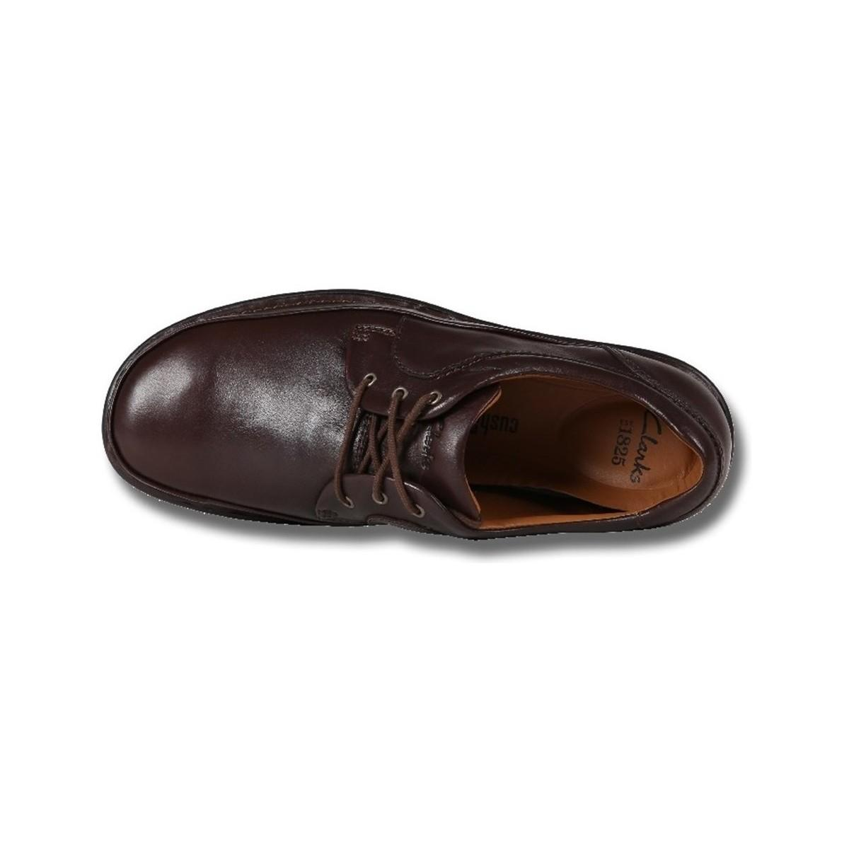 Clarks Butleigh Edge Walnut Leather Men's Casual Shoes In Brown for Men