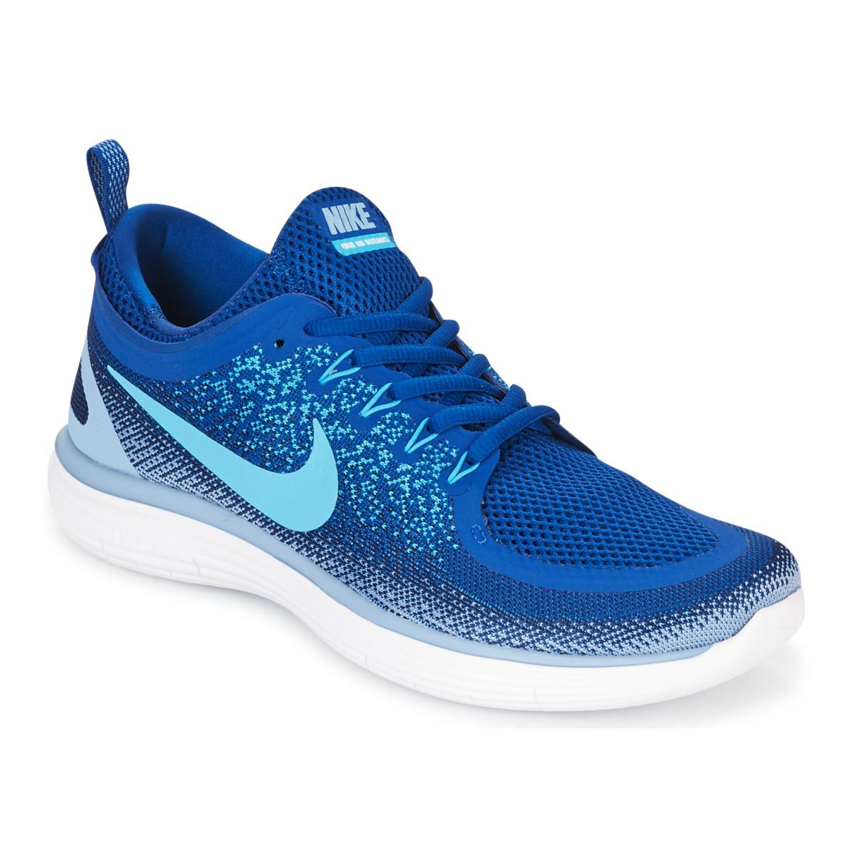 ed03ea266e2 Nike Free Run Distance 2 Men s Running Trainers In Blue in Blue for ...