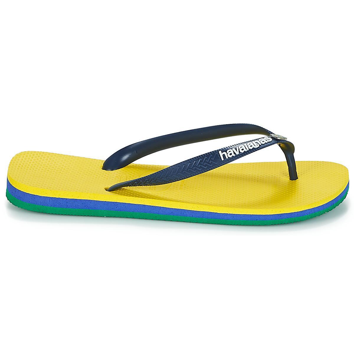 4bd81c7035edf4 Havaianas - Brasil Layers Men s Flip Flops   Sandals (shoes) In Yellow for  Men. View fullscreen