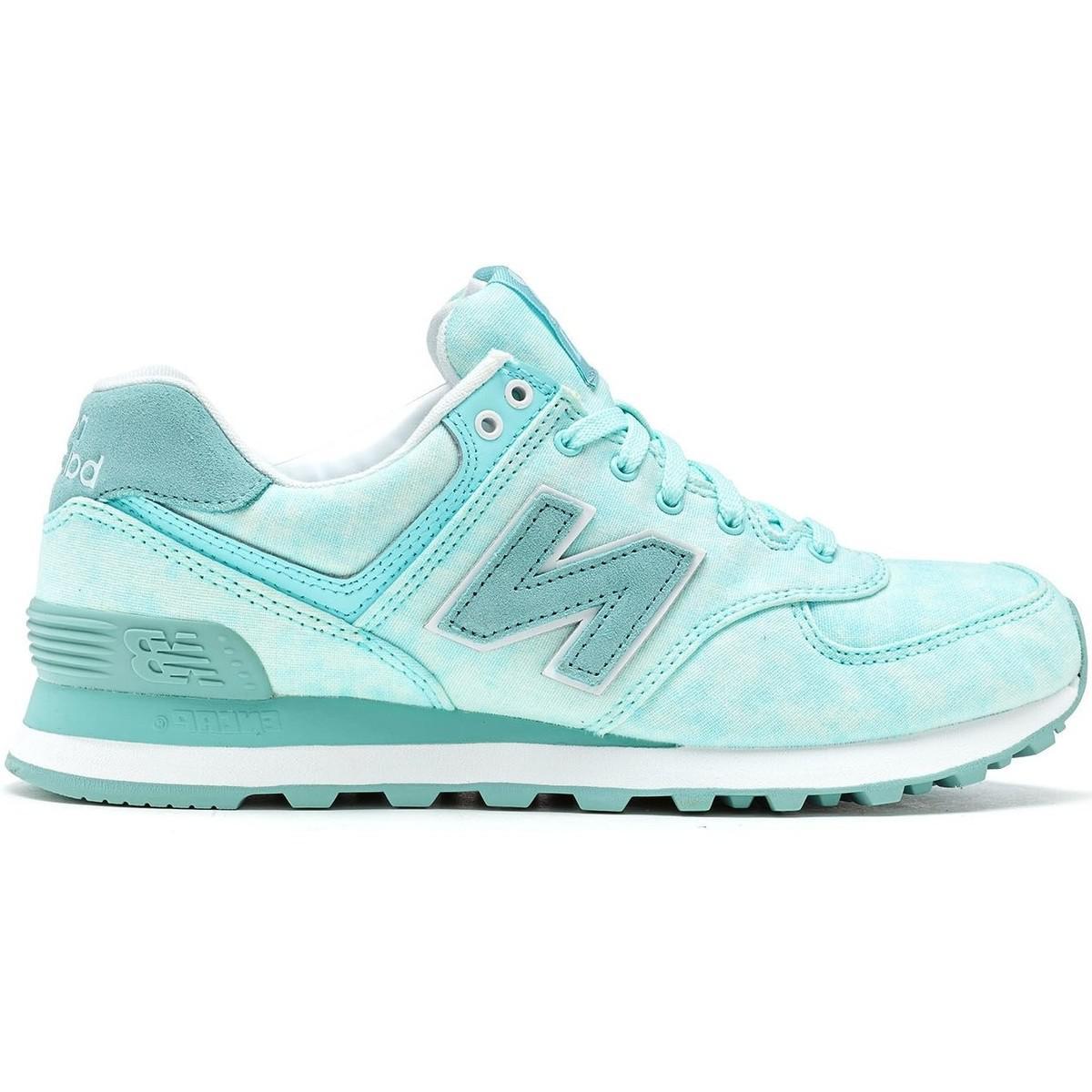 New Balance. 574 Retro Women Trainers In Light Blue Wl574 Swb ...