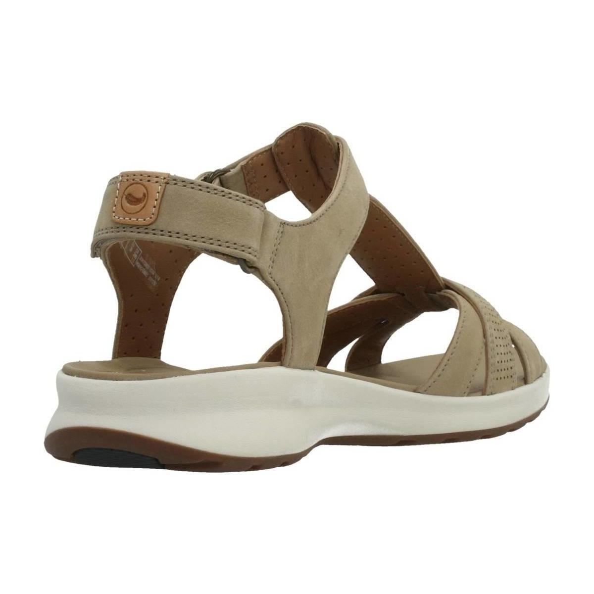56b24048f792 Clarks Un Adorn Vibe Sand Nubuck Women s Sandals In Brown in Brown ...