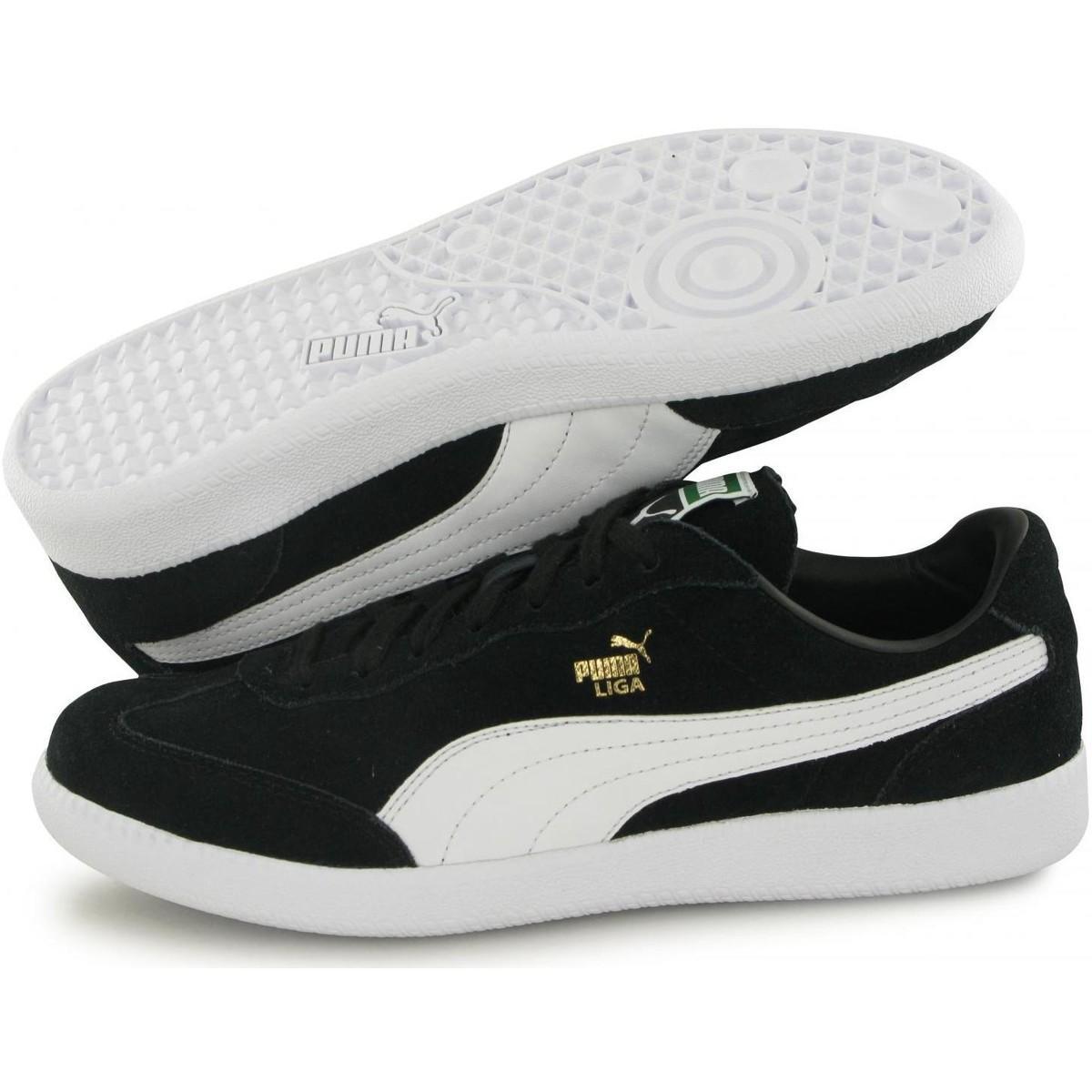 Baskets Liga Suede Chaussures PUMA pour homme en coloris Noir - Lyst