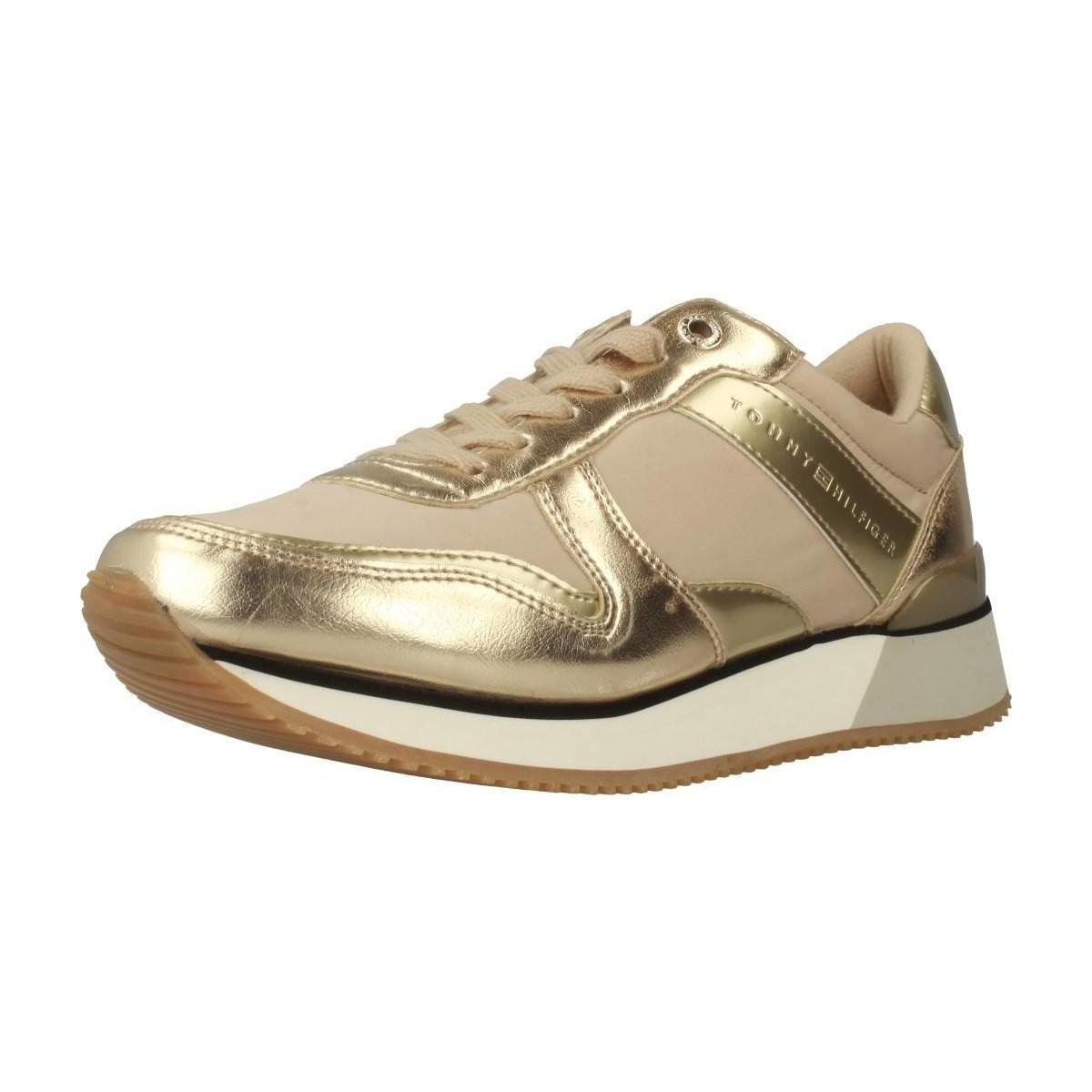 e713d04033 Tommy Hilfiger Fw0fw02683 Women s Shoes (trainers) In Gold in ...