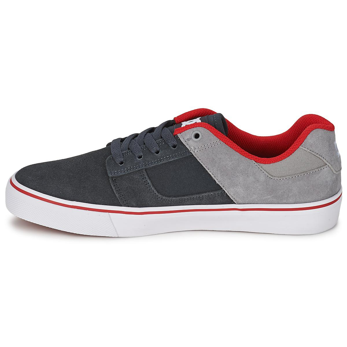 DC Shoes Leather Bridge Men's Shoes (trainers) In Grey in Grey for Men