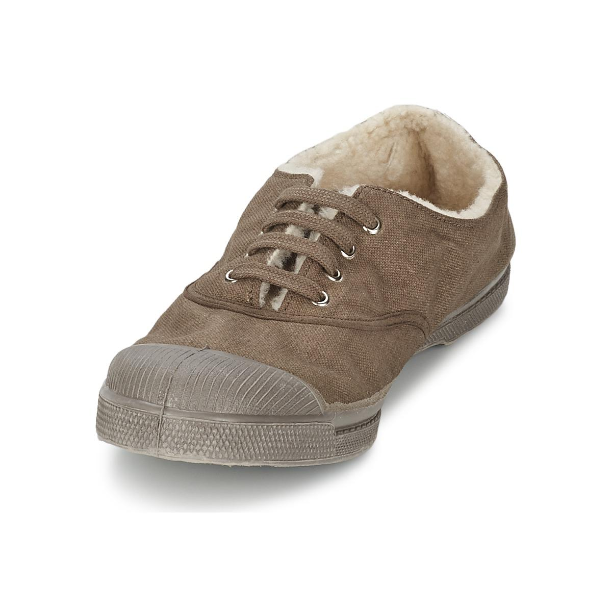 Bensimon Tennis Fourrees Women's Shoes (trainers) In Brown