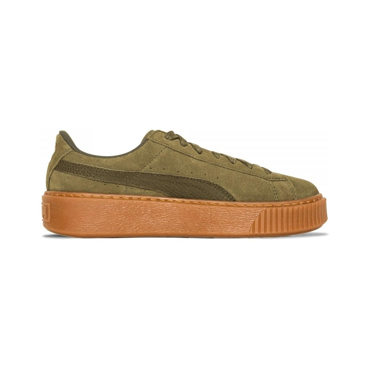 05fbb4138b0 Lyst - Basket Suede Platform - 365109-03 femmes Chaussures en vert ...